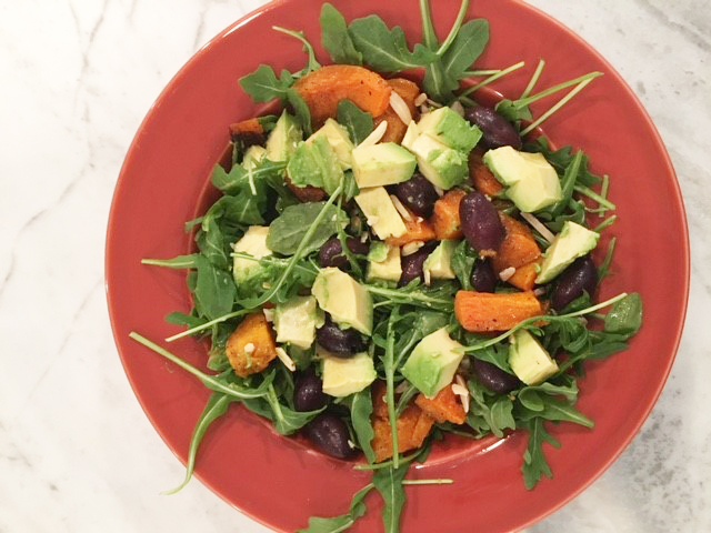Roasted Squash, Olive, Avocado and Arugula Salad - Yoga ...